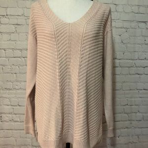 Chaps cream v neck sweater